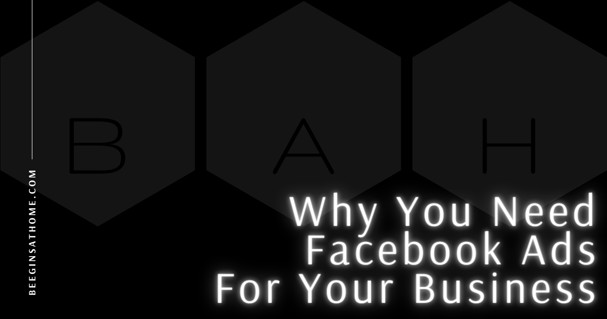Featured Image Why You Need Facebook Ads for Your Business BEEGINSATHOME.COM black background