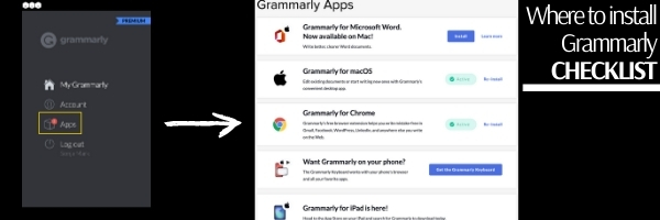 BAH blog graphic showing Grammarly screenshots.