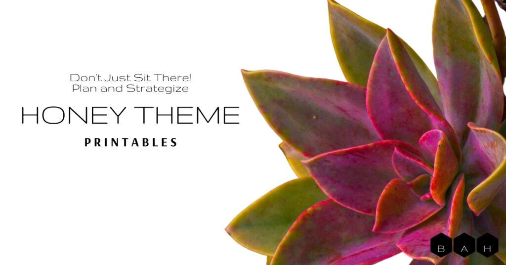 Honey Theme Printables featured image succulent